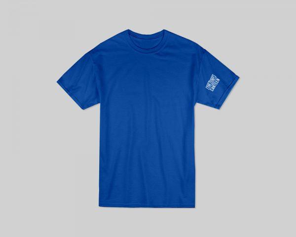 Plain Blue T-shirt with Logo